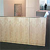 reception counter for architecture firm